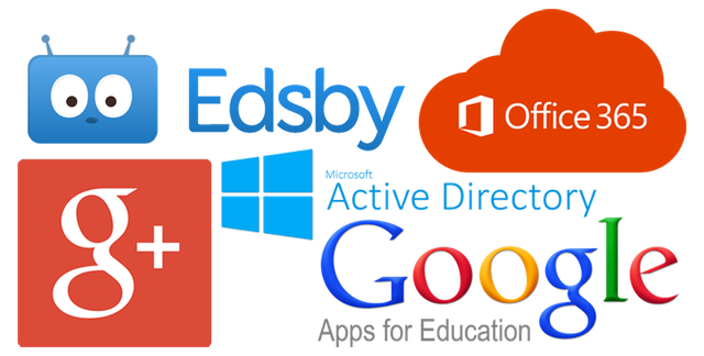 Image showing the logos of the various companies and protocols used to sign in to Edsby